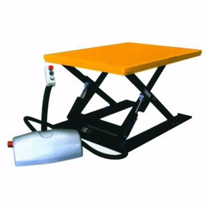 Picture of Scissor Lift Table 1000kg 415V Raised Height 820mm Fitted with Pallet Turntable