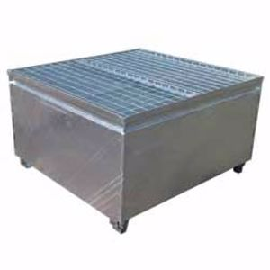Picture of Single IBC Bund - Galvanised Metal for 1000 Litre