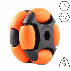 Picture of Rotacaster 48mm Double 65A Medium Polyurethane Roller 11.1mm Hex Bore