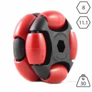 Picture of Rotacaster 48mm Double 90A Firm Polyurethane Roller 11.1mm Hex Bore