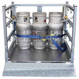 Picture of Gas Cylinder Storage and Transport Cage Flat Packed