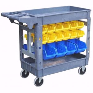 Picture of 2 Tier Plastic Parts Trolley 796x440mm