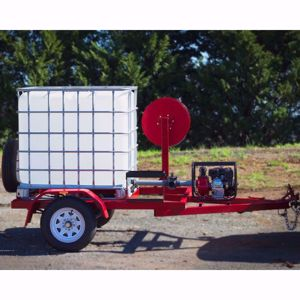 Picture of Fire Trailer with brakes 1000L with pump and hose