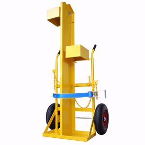 Picture of Welding Trolley for 1 x G Size Oxygen and 1 x 45kg LPG with Gauge Guards air filled wheels